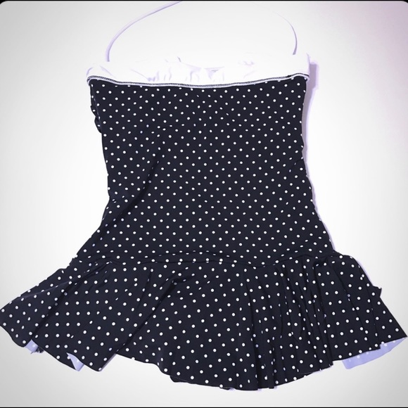 Chaps Other - CHAPS Black & White Polkadot OnePiece NWT [SW-20]